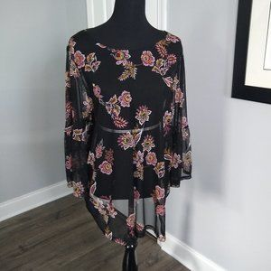 Love and Legend Sheer Floaty Tunic 3X
